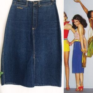 VINTAGE HIGH WAIST JEAN DENIM SKIRT